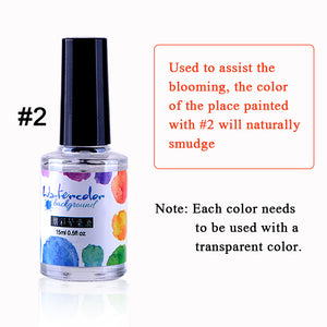 US WAREHOUSE YAYOGE 15ml Blossom Ink Liquid No Nail Art Transparent Blooming Flower Gel Need Cure - YAYOGE Official