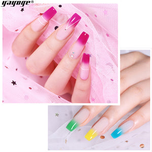 US WAREHOUSE YAYOGE 15ml Temperature Color Change Polygel UV LED Trial Nail Extension Gel 7 Colors Selectable - YAYOGE Official