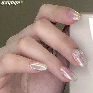 US WAREHOUSE YAYOGE Aurora Ice Transparent Mirror Powder Nail Chrome - YAYOGE Official