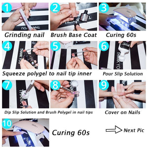 YAYOGE 9Pcs/set Polygel Set Quick Builder UV LED Nail Extension Starter Kit - YAYOGE Official