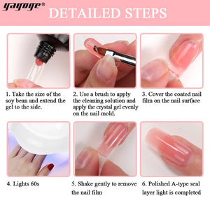 US WAREHOUSE YAYOGE 60ml Polygel Set Quick Extension Hard Gel - No Base & Top Coat - YAYOGE Official