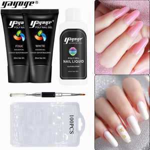 YAYOGE 2Colors Poly Gel Kit Quick Nail Extension Kit - YAYOGE Official