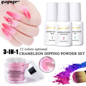 4Pcs/Set 3in1 Chameleon Dipping Extension Carving Powder Set - YAYOGE Official