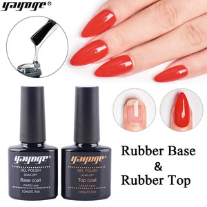 YAYOGE 10ml Soak Off UV LED Rubber Base Top Coat - YAYOGE Official