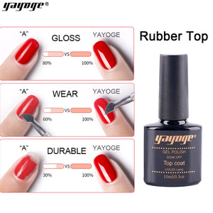 US WAREHOUSE YAYOGE 10ml Soak Off UV LED Rubber Base Top Coat - YAYOGE Official