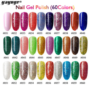 YAYOGE 60Colors 6ML UV LED Soak Off Gel Nail Polish - YAYOGE Official