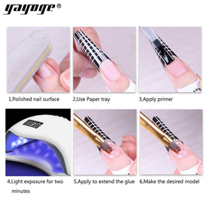 US WAREHOUSE YAYOGE 4Pcs/Set Nail Builder Gel UV LED Quick Builder Hard Jelly Varnish Nail Art DIY - YAYOGE Official