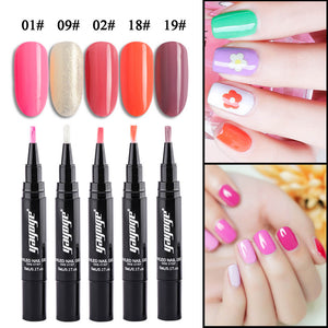 YAYOGE 5Pcs/Set One Step Gel Kit Glitter UV LED Soak Off Gel Nail Polish Pen - YAYOGE Official