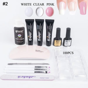 US WAREHOUSE YAYOGE 13Pcs/Set 15ml Polygel Set UV Gel Nail Tip Extension Nail Beginnner Kit - YAYOGE Official