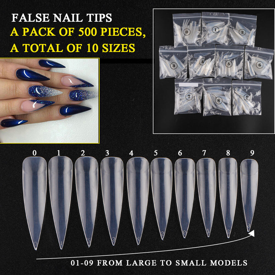 Stiletto Sharp Nail Tips FN500-T1-J