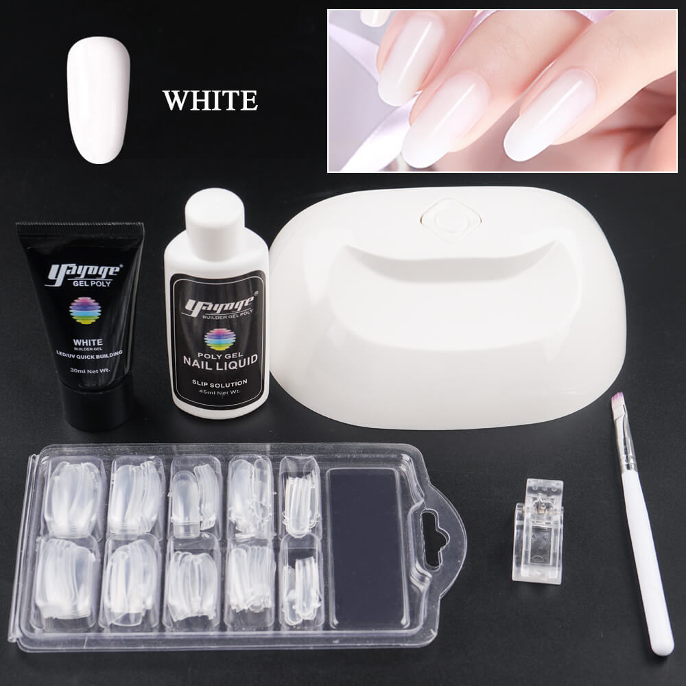 US WAREHOUSE YAYOGE Polygel Set with 18W UV Nail Lamp Quick Extension Gel Set - YAYOGE Official