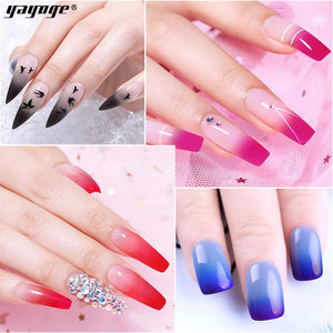 UK WAREHOUSE YAYOGE 4/10Pcs/Set Polygel Set UV LED Quick Builder Nail Extension Kit - YAYOGE Official