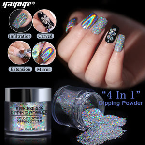 YAYOGE 4in1 Rainbow Dipping Powder For Nail Extension/Dipping/Mirror/Craving - YAYOGE Official
