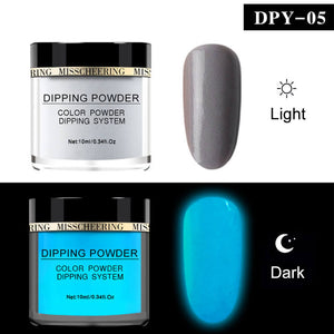 YAYOGE 10ml Luminous Dipping Powder Glow in Dark Fluorescent Glitter Glow Pigment - YAYOGE Official