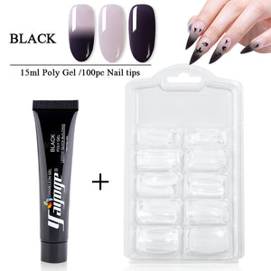 YAYOGE 2Pcs/Kit Poly Gel Set Temperature Color Change Quick Builder Nail Extension Polygel Kit