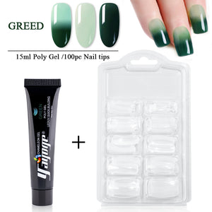YAYOGE 2Pcs/Kit Poly Gel Set Temperature Color Change Quick Builder Nail Extension Polygel Kit - YAYOGE Official