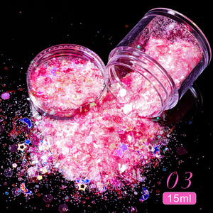 YAYOGE 6g/Box Nail Glitter Mix Star Round Moon Star Irregular Paillette DIY Sequins Nail Art Decor - YAYOGE Official