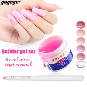 YAYOGE 56g Builder Gel Set with Nail Form UV Gel Set Nail Extension Nail Art Tool - YAYOGE Official