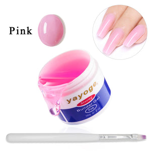 YAYOGE 56g Builder Gel Set with Nail Form UV Gel Set Nail Extension Nail Art Tool