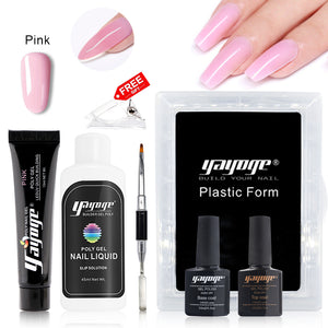 YAYOGE 13Pcs Poly Gel Kit Finger Extension Polygel Quick Building DIY Nail Art Decoration Nail Salon - YAYOGE Official