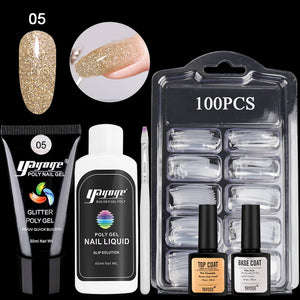 YAYOGE 13/6Pcs Glitter Polygel Kit UV LED Nail Art Kit - YAYOGE Official