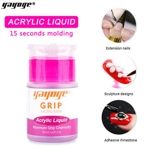 YAYOGE 60ml Slowly Dry Acrylic Powder Liquid Monomer Nail Extension For Nail Art DIY Beginner - YAYOGE Official