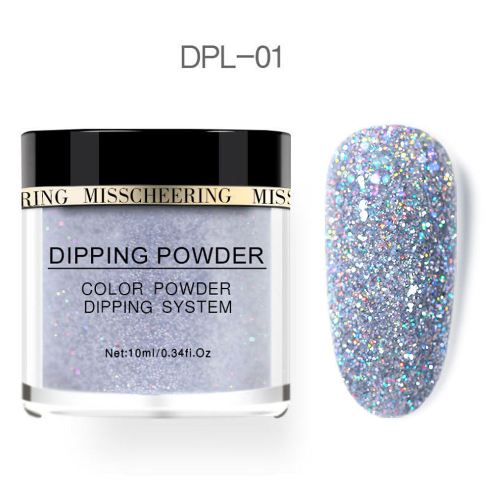 YAYOGE 10Colors Selectable Glitter Dipping Powder Natural Dry Dip Powder Nail Beauty