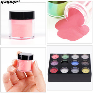 UK WAREHOUSE YAYOGE 12Colors/Set Acrylic Nail Powder Crystal Powders - YAYOGE Official