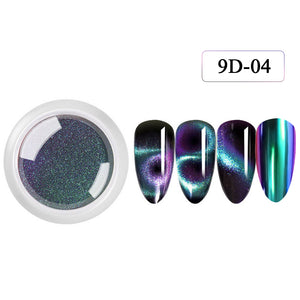 YAYOGE 9D Magnetic Cat Eye Mirror Powder UV LED Magnet Powder Nail Art Salon DIY - YAYOGE Official