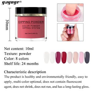 YAYOGE 10ml Pure Colors Dipping Powder Natural Dry-Color Dipping System - YAYOGE Official