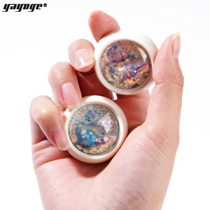 YAYOGE Hitomi Nail Glitter Sequins 3D Hexagon Sparkly Paillette Nail Art Decoration