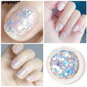UK WAREHOUSE YAYOGE 8Colors/Set Hitomi 3D Hexagon Nail Glitter Sequins Sparkly Paillette - YAYOGE Official