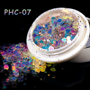 US WAREHOUSE YAYOGE Hitomi Nail Glitter Sequins 3D Hexagon Sparkly Paillette - YAYOGE Official