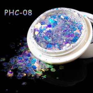 YAYOGE Hitomi Nail Glitter Sequins 3D Hexagon Sparkly Paillette Nail Art Decoration - YAYOGE Official