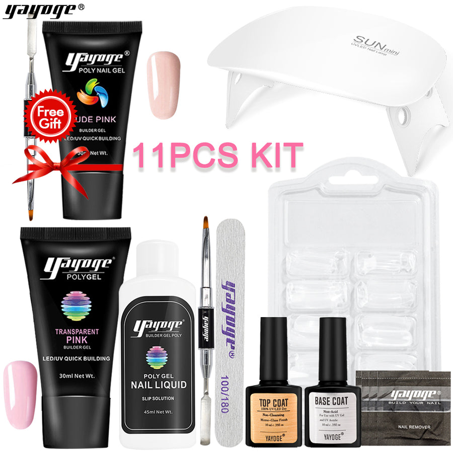 US WAREHOUSE 7 Basic Colors Poly Gel Kit P26-S87-2P(30ml)