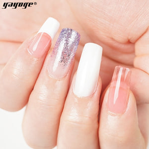 US WAREHOUSE YAYOGE 16Pcs 15ml Coloring Changing Polygel Kit + 7Pcs 30ml Pink Polygel Kit with 6W Pink Nail Lamp - Only 46.98$ - YAYOGE Official
