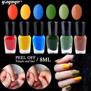 US WAREHOUSE Yayoge 6Color/Set Water Based Peelable Nail Polish Set - YAYOGE Official