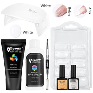 UK WAREHOUSE 6Pcs/Set 30ml Polygel Set One Color Complete Set For Nail Extension Beginner - YAYOGE Official