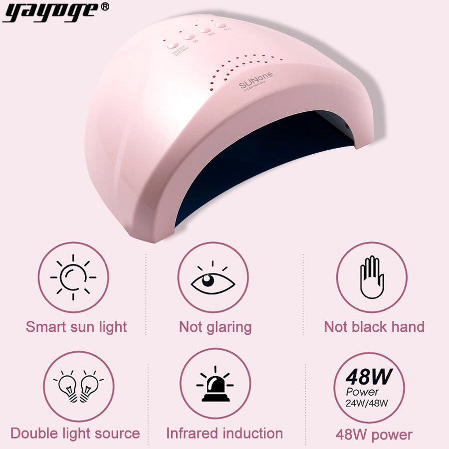 UK WAREHOUSE YAYOGE 48W Motion Sensing 30 UV LED Double Lights Nail Dryer Lamp For UV Gel Curing - YAYOGE Official