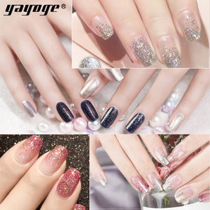 YAYOGE 12Colors Platinum UV Gel Starry Sky Glitter Gel Nail Polish Soak Off Diamond Bling Nail Gel Art Salon - YAYOGE Official