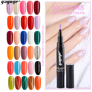 YAYOGE 39Colors Gel Nail Polish Pen UV LED One Step Gel No Need Base Top Coat Nail Salon - YAYOGE Official