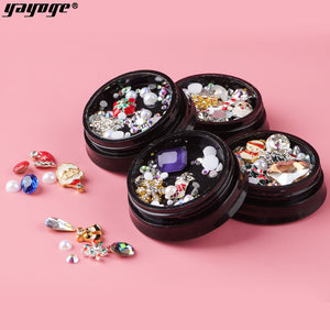 YAYOGE Christmas Lightweight Nail Diamond Rhinestone Nail Art DIY Decoration - YAYOGE Official