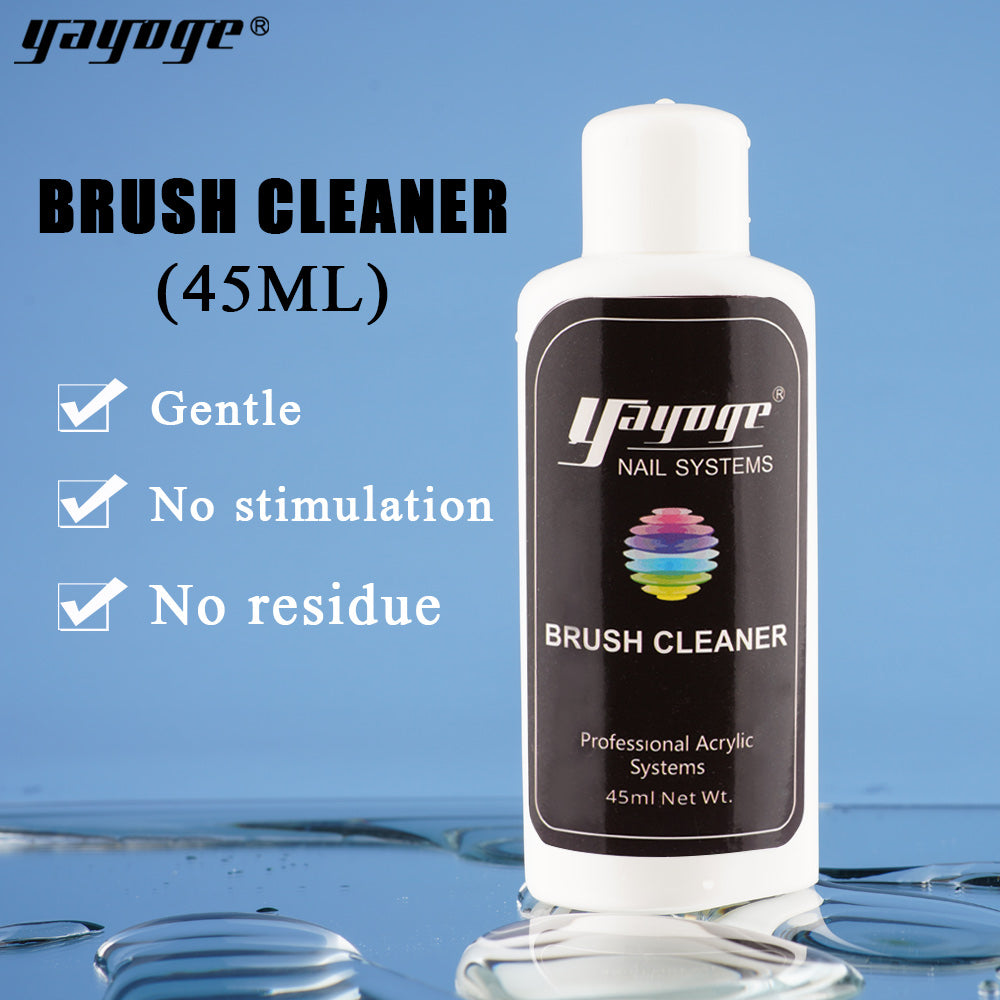 YAYOGE 45ml Nail Art Brush Cleaner Brush Tip Cleaning Liquid Nail Art Accessories - YAYOGE Official