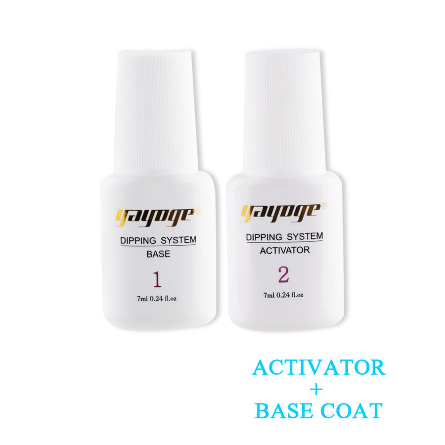 Base Coat & Top Coat & Activator for Dip Powder Nail Chrome