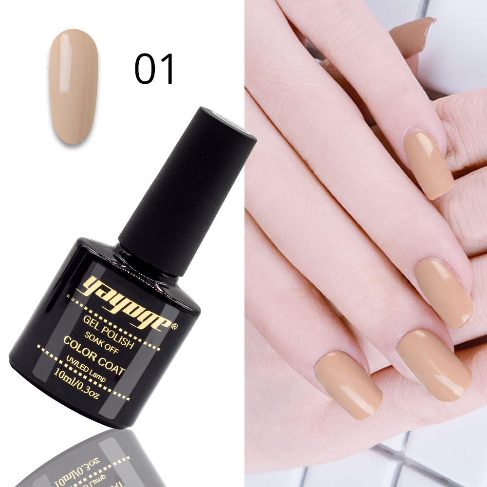 YAYOGE 10ml Coffee Series Semi Permanent UV LED Gel Nail Polish Soak Off Varnish Gel Nail Art DIY - YAYOGE Official