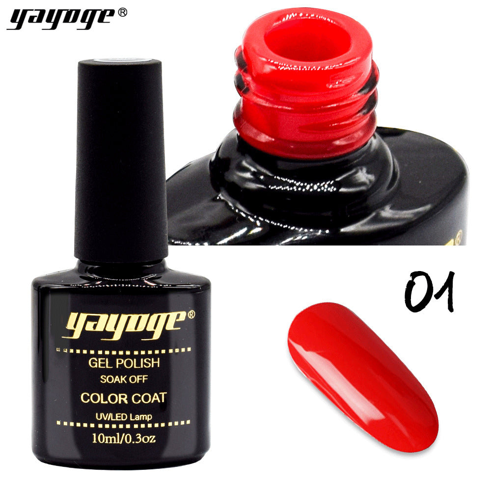6 Colors Rose Red Series UV LED Gel Nail Polish Soak Off(10ml)