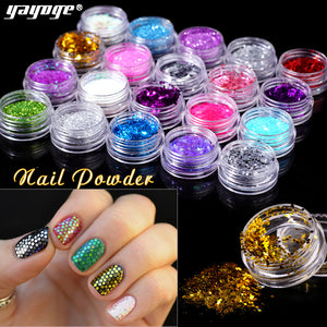 64 Colors Nail Chrome Glitter Powder Sequins SE-F