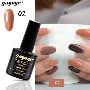 YAYOGE 6Colors Chocolate Series Nail Gel Polish UV LED Long-lasting Nail Gel Art DIY - YAYOGE Official