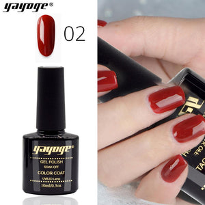 YAYOGE Halloween 6Colors Wind Red Series Soak Off UV LED Gel Polish Varnish Long-Lasting Nail Art Gel - YAYOGE Official