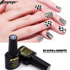 YAYOGE 10ml Black White UV LED Nail Gel Polish Long-Lasting Varnish Gel Nail Art DIY - YAYOGE Official